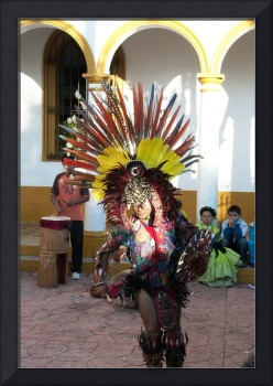 Mayan Feathered Dancer in Chiapas