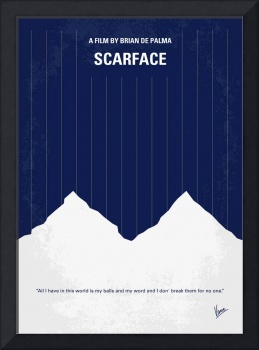 No158 My SCARFACE minimal movie poster