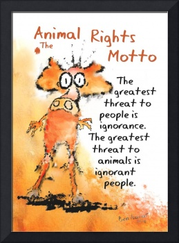 The Animal Rights Motto