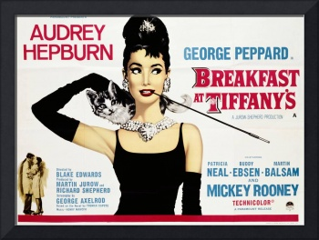Poster for the film 'Breakfast at Tiffany's', 1961