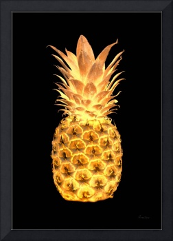 14G Artistic Glowing Pineapple Digital Art Gold