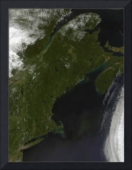 Satellite view of New England
