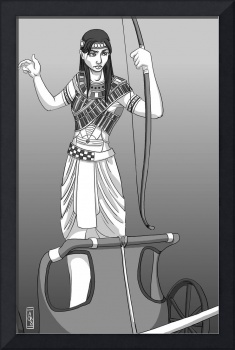 Women warriors: Egyptian charioteer