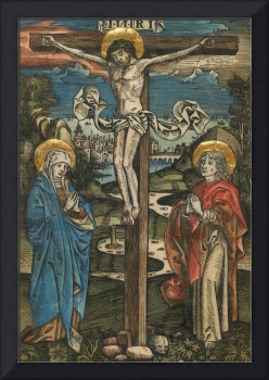 Christ on the Cross with Mary and Saint John, from