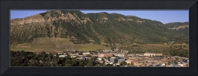View of Durango Colorado seen fr Fort Lewis Colle
