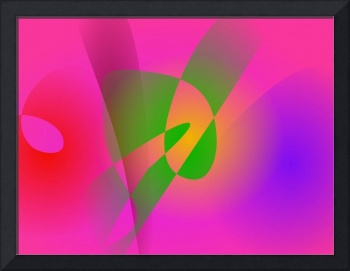 Contrasting Abstract Colors Dark Pink