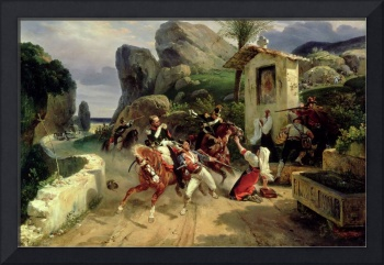 Italian Brigands Surprised by Papal Troops, 1831 (