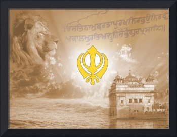 Golden Temple Khanda Lion
