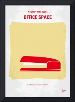 No255 My OFFICE SPACE minimal movie poster