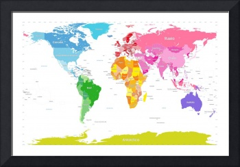 Continents World Map