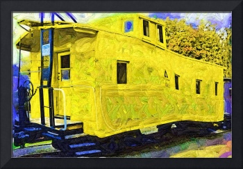 A Bright Yellow Caboose