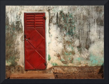 Red Door with Louvres