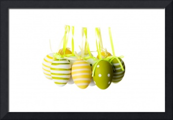 Easter egg decoration, isolated on white
