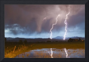 Longs Peak Foothills Lightning Strikes