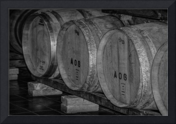 Stored Wine Barrels