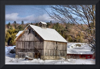 Berkshire Barn In Winter