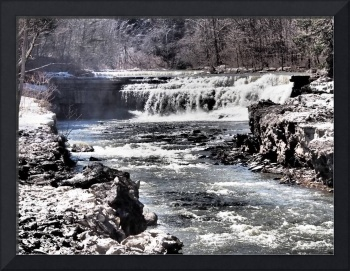 Lower Taughannock Falls During Spring Thaw