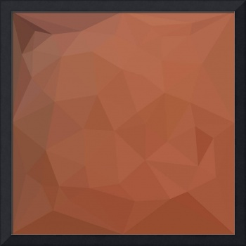 Burnt Orange Abstract Low Polygon Background