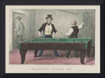 Vintage Billiards Game Illustration (1874)
