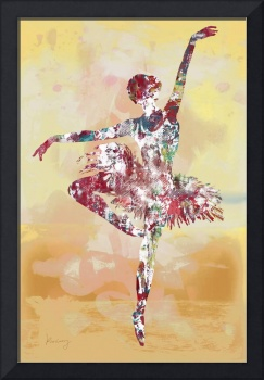 Ballet Dancing - Pop art etching poster