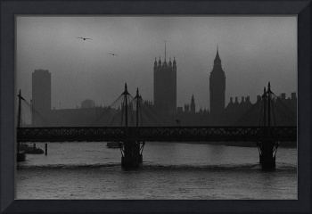 Westminster, a Foggy Day, London