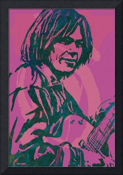 neil young  Stylised Pop Art Drawing Potrait Poser