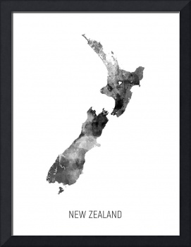 New Zealand Watercolor Map