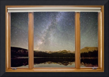 Rocky Mountains Milky Way Sky Classic Window View