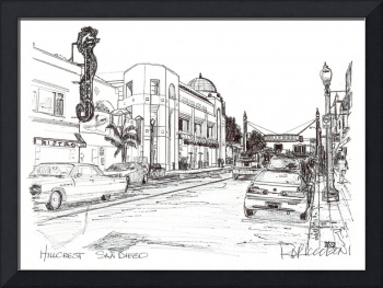 Drawing of Hillcrest, San Diego California