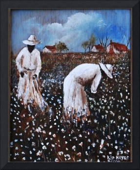 COTTON PICKERS AFRICAN AMERICAN FOLK ART  KIP HAYE