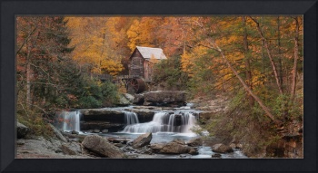 Babcock Mill Autumn Sunrise Pano in West Virginia