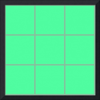 Green Window 028 Canvas Contemporary Modern