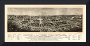 1904 St. Louis, MO Panorama of the World's Fair