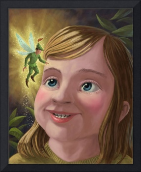 young girl with magical pixie