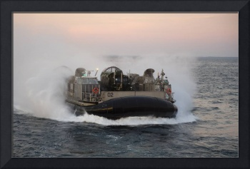Landing Craft Air Cushion transits the Atlantic Oc
