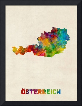 Austria Watercolor Map