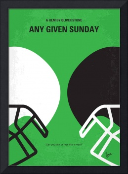 No420 My ANY GIVEN SUNDAY minimal movie poster