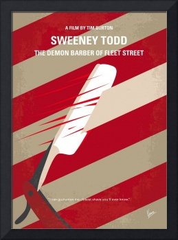 No849 My Sweeney Todd minimal movie poster
