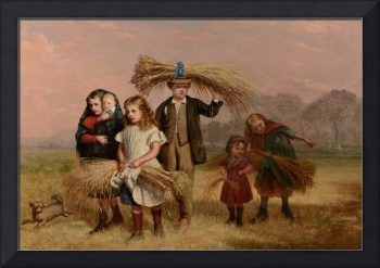 HUGH COLLINS (fl 1868-1891) 'Children Returning Ho