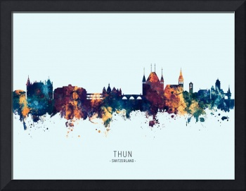 Thun Switzerland Skyline