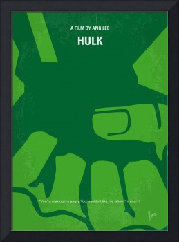 No040 My HULK minimal movie poster