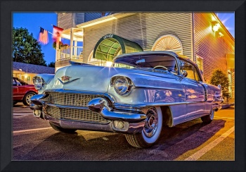 Classic Vintage Cadillac at Night