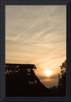 old barns sunset 2