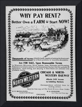 Land For Sale Vintage Advertisement