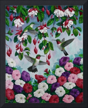 Hummingbird Flower Garden