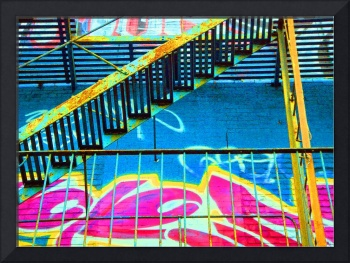 graffiti fire escape