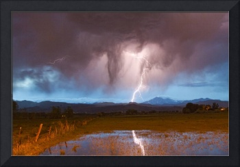 Lightning Striking Longs Peak Foothills 3
