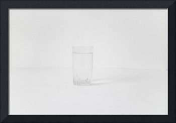 White on white Glass of water