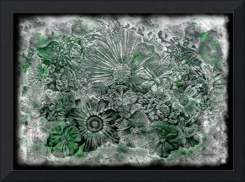 7a Abstract Floral Expressionism Digital Art