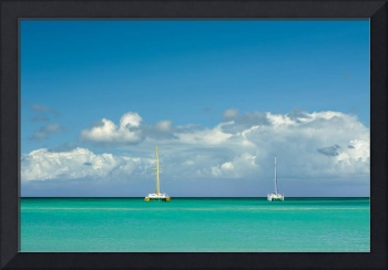 Catamarans at the tropical beach